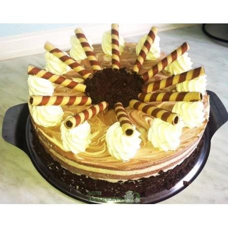 Schoko-Vanille-Torte
